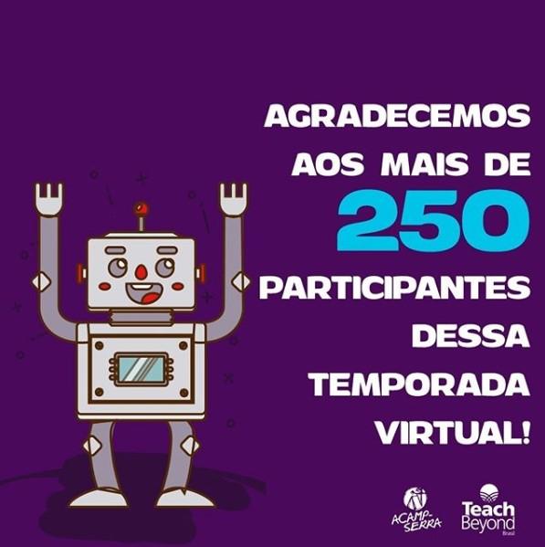 Agradecemos aos mais de 250 participantes dessa temporada virtual!